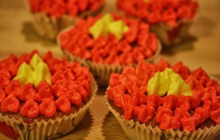 Muffins con cuore di fragolina di bosco