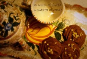 Biscotti di frolla montata al cacao