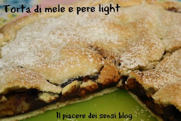 Torta mele e pere light