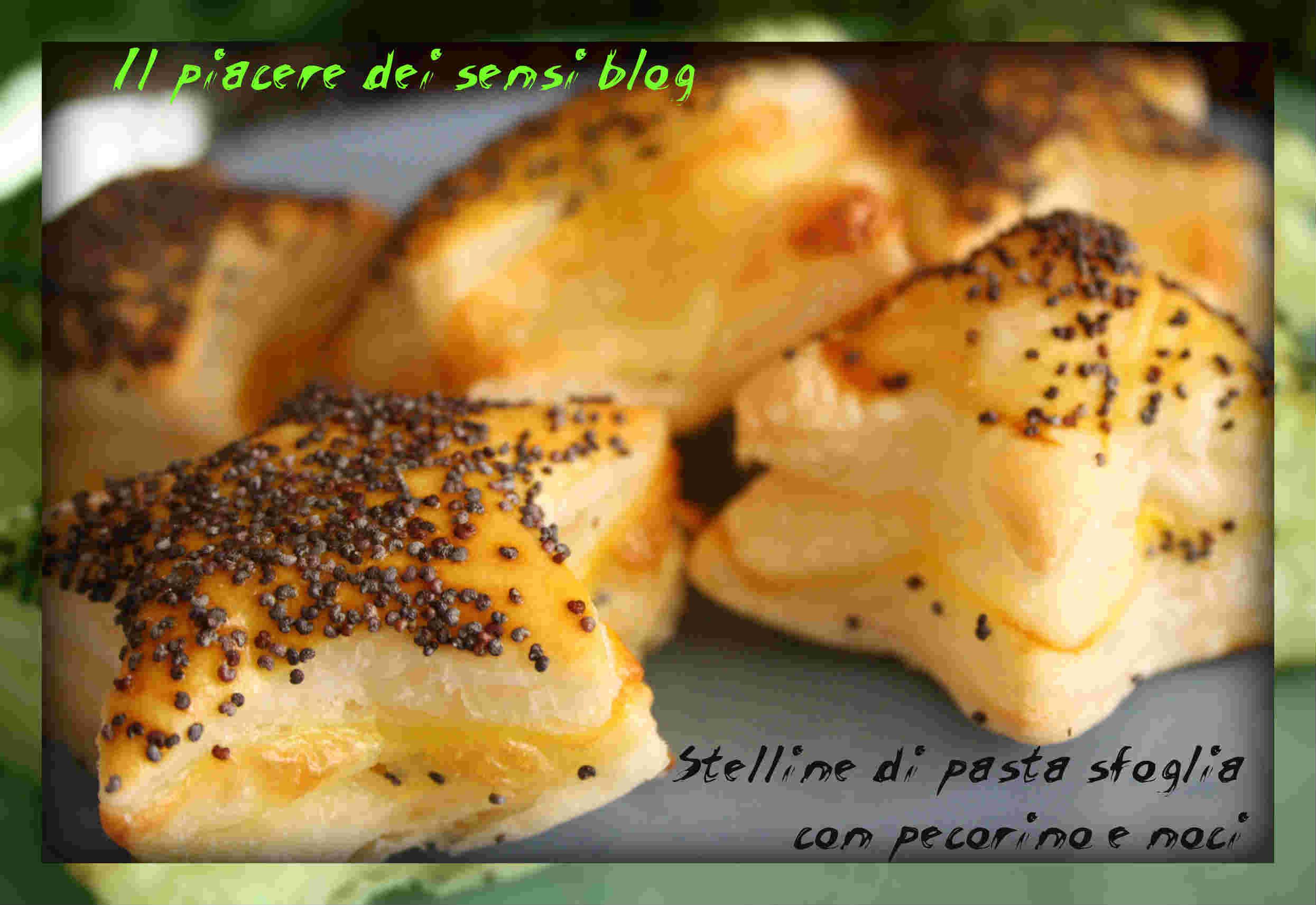 Stelline di pasta sfoglia con pecorino e noci