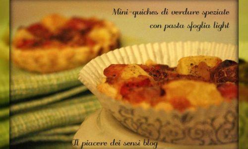 Mini-quiches di verdure speziate con pasta sfoglia light