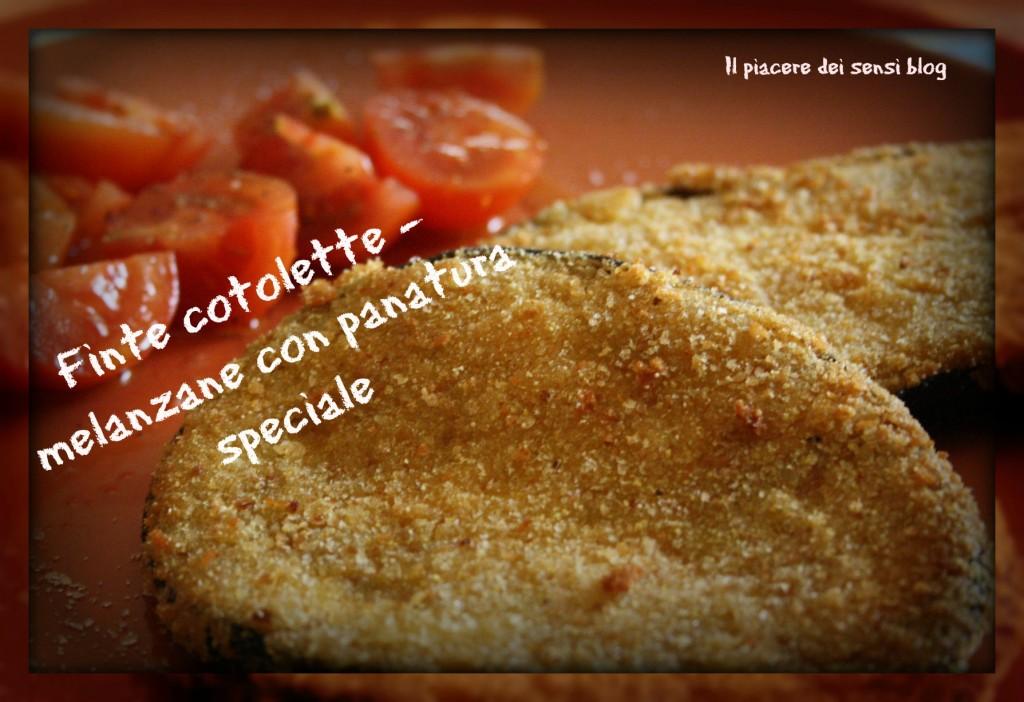Finte cotolette - melanzane con panatura speciale