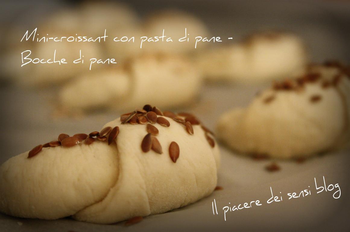 Mini-croissant con pasta di pane