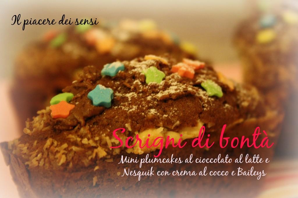Mini plumcakes al cioccolato al latte e Nesquik