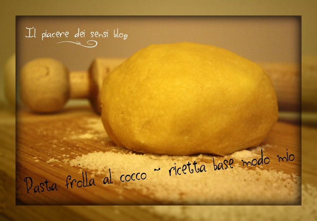 pasta frolla al cocco