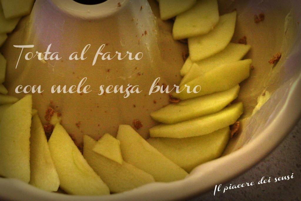Torta al farro con mele senza burro