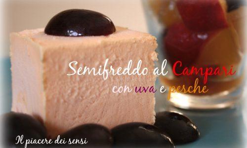 Semifreddo al Campari con uva e pesche