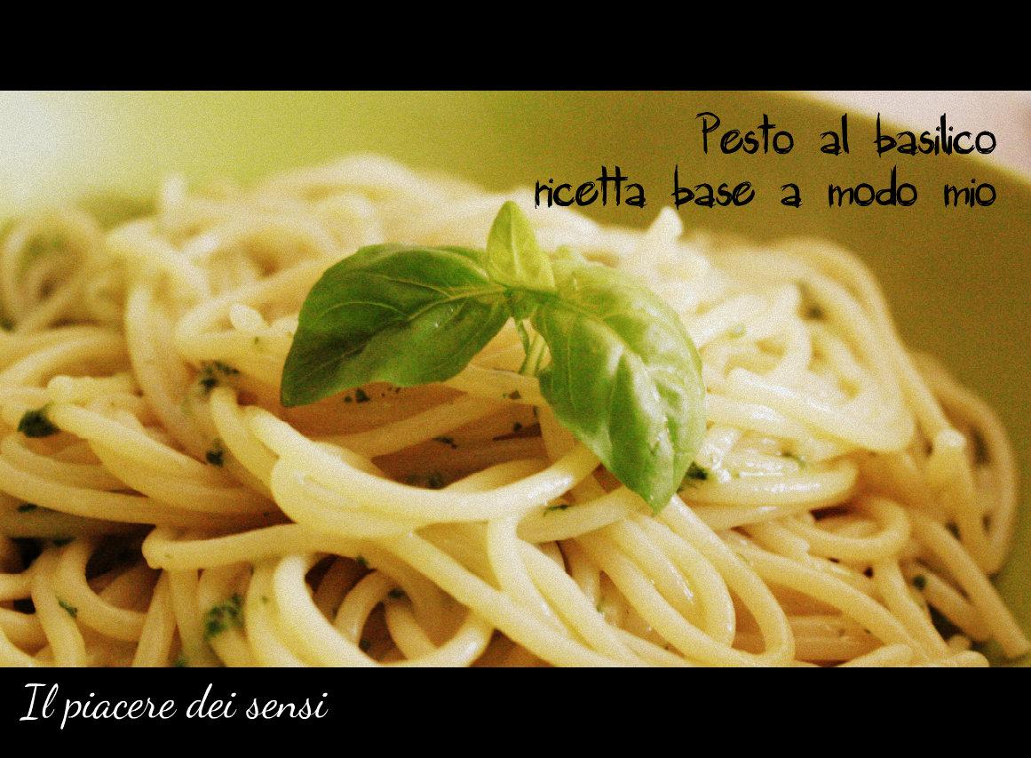 Pesto al basilico senz'aglio