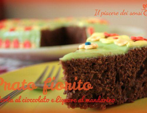 Prato fiorito – torta al cioccolato e liquore al mandarino