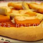 Pizza Halloween (con zucca, provola e carciofini)