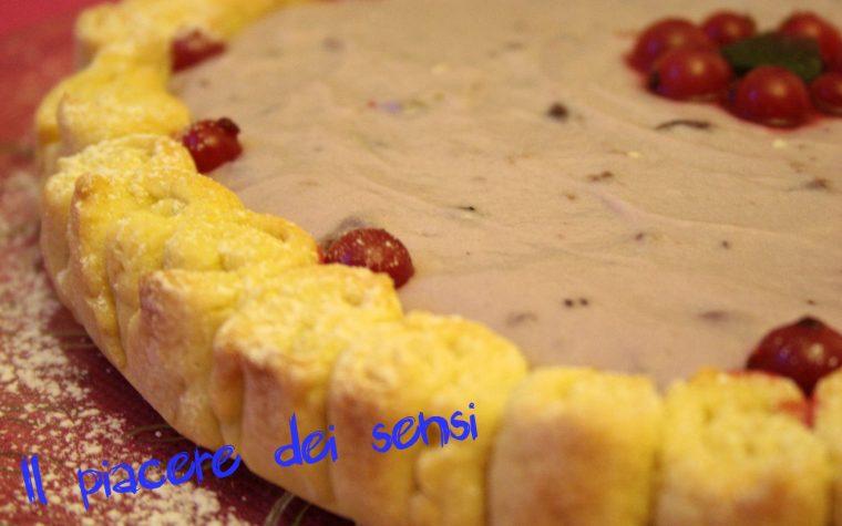Crostata senza burro con crema allo yogurt