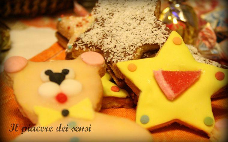 Orsetti e stelline di pasta frolla – biscotti di Natale