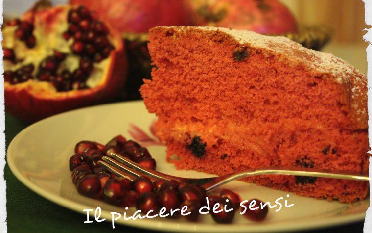Torta con melograno e frutti rossi – torta Marte