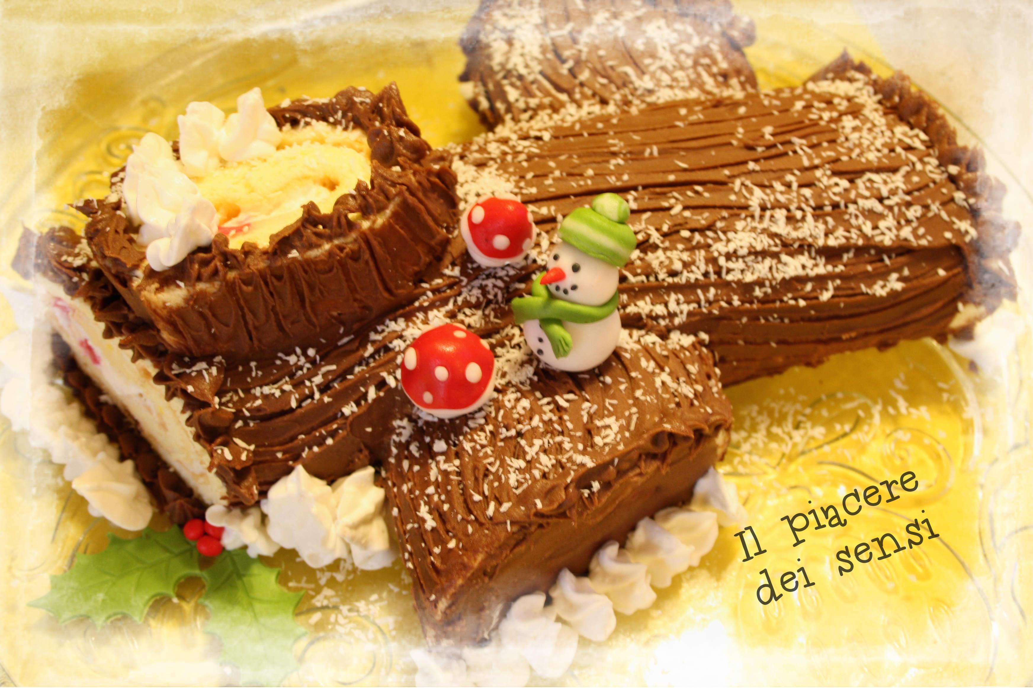 Decorare Il Tronchetto Di Natale.Tronchetto Di Natale Con Amarene E Ganache Al Cioccolato