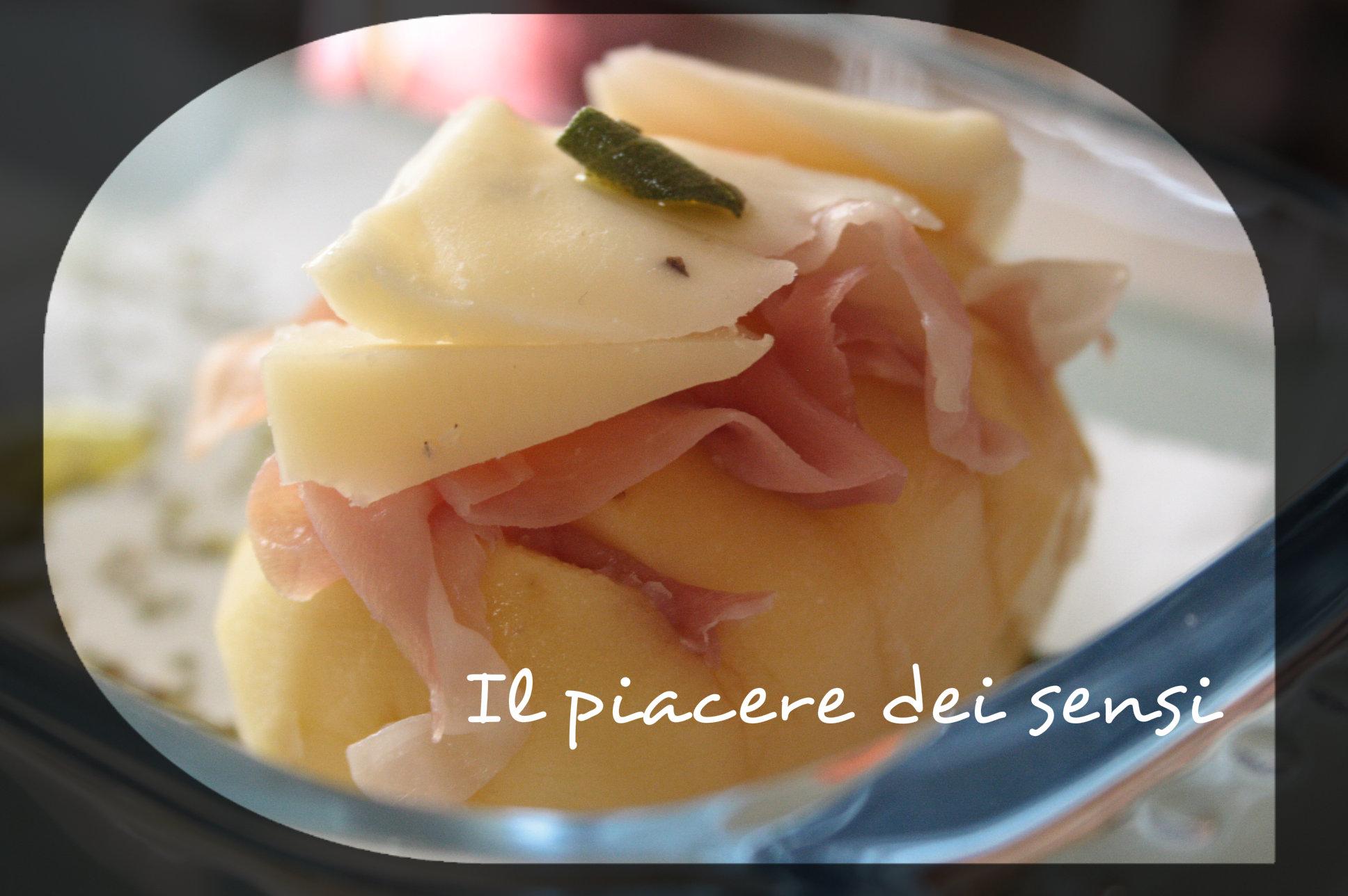 Patate con speck e formaggio al tartufo