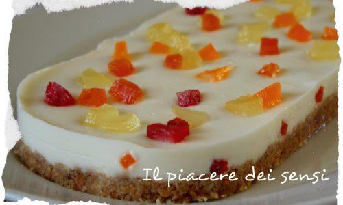 Semifreddo con panna cotta e frutti canditi – Finta cassata