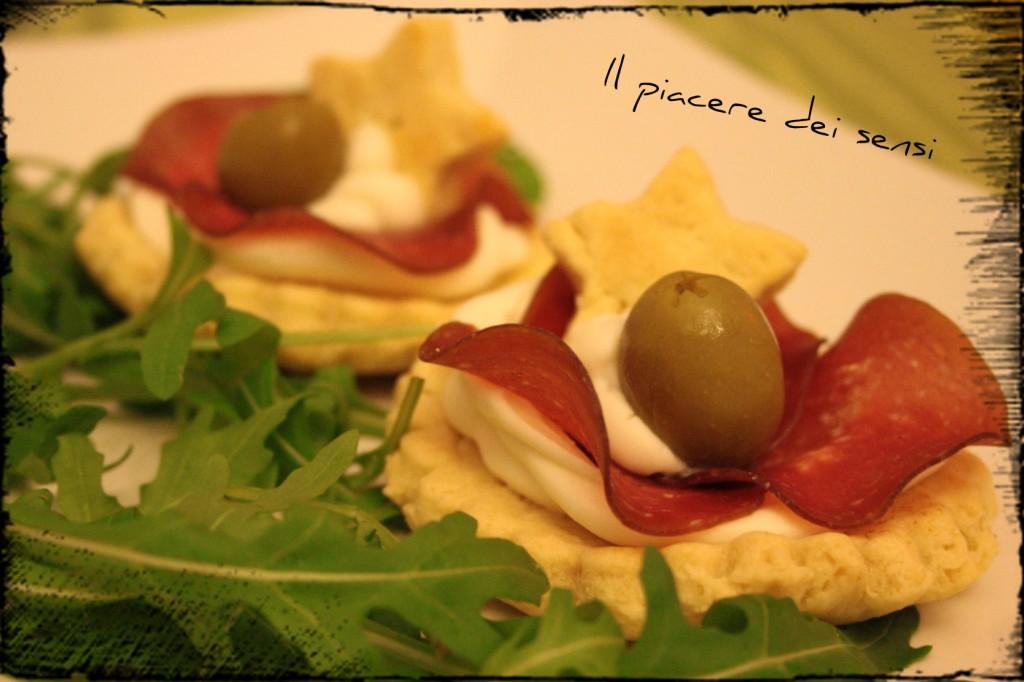 tartellette di pasta frolla salata