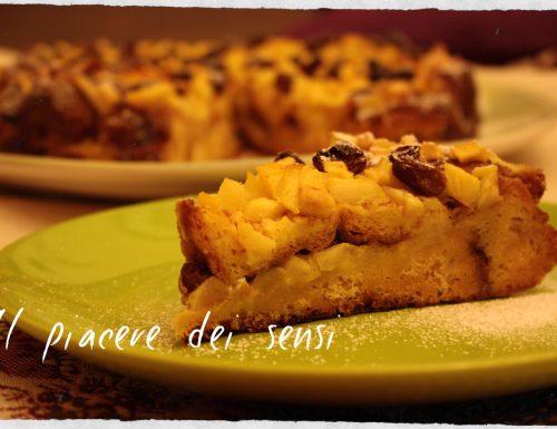 Torta con pandoro, mele e uvetta – Pandomeletta