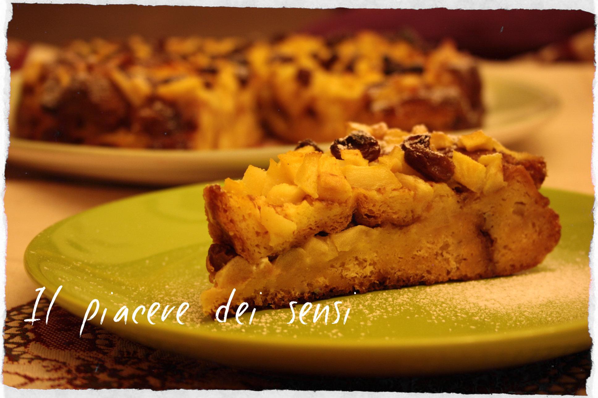torta con pandoro e mele