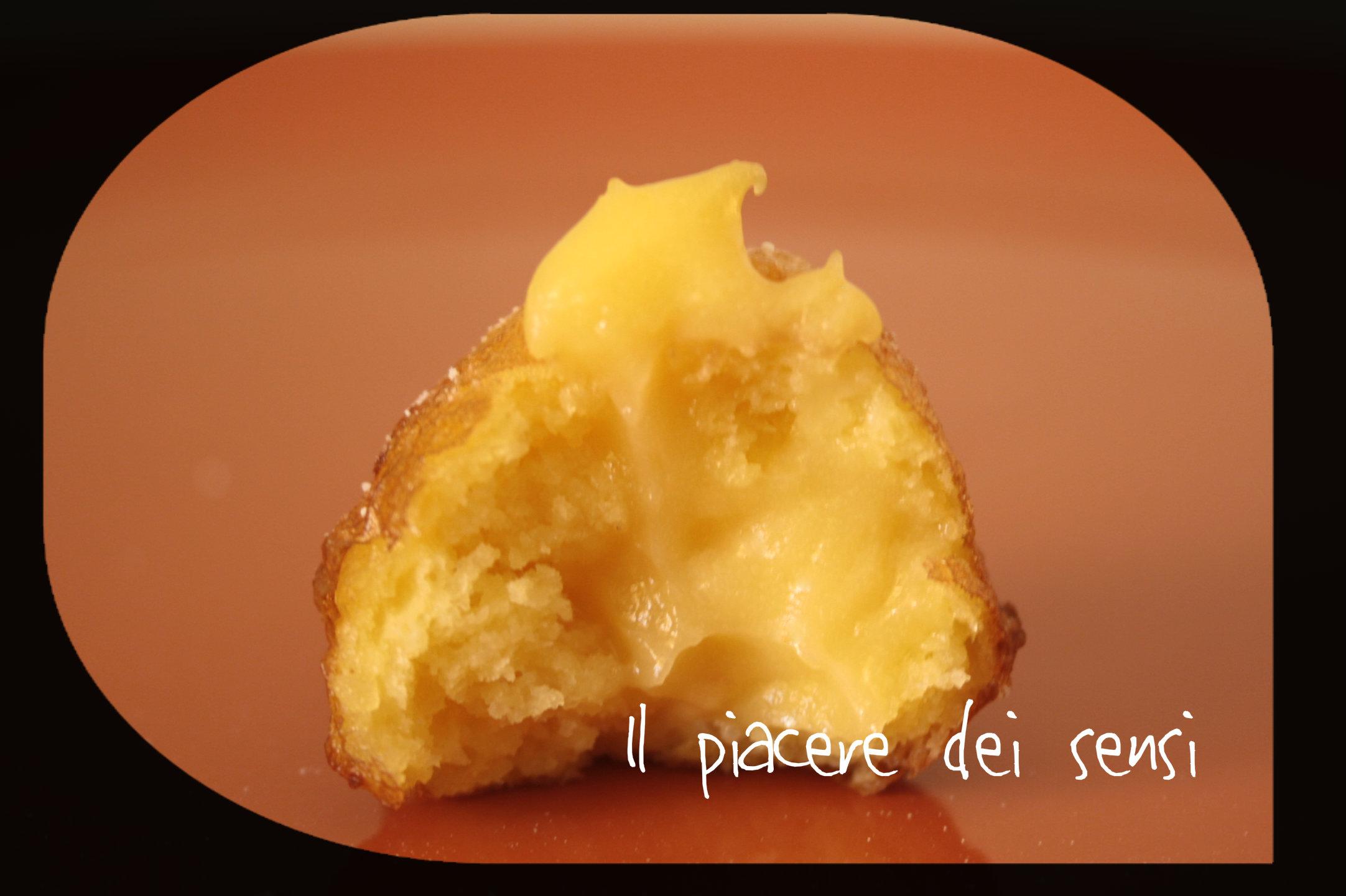 Frittelle con crema di grappa di amarone