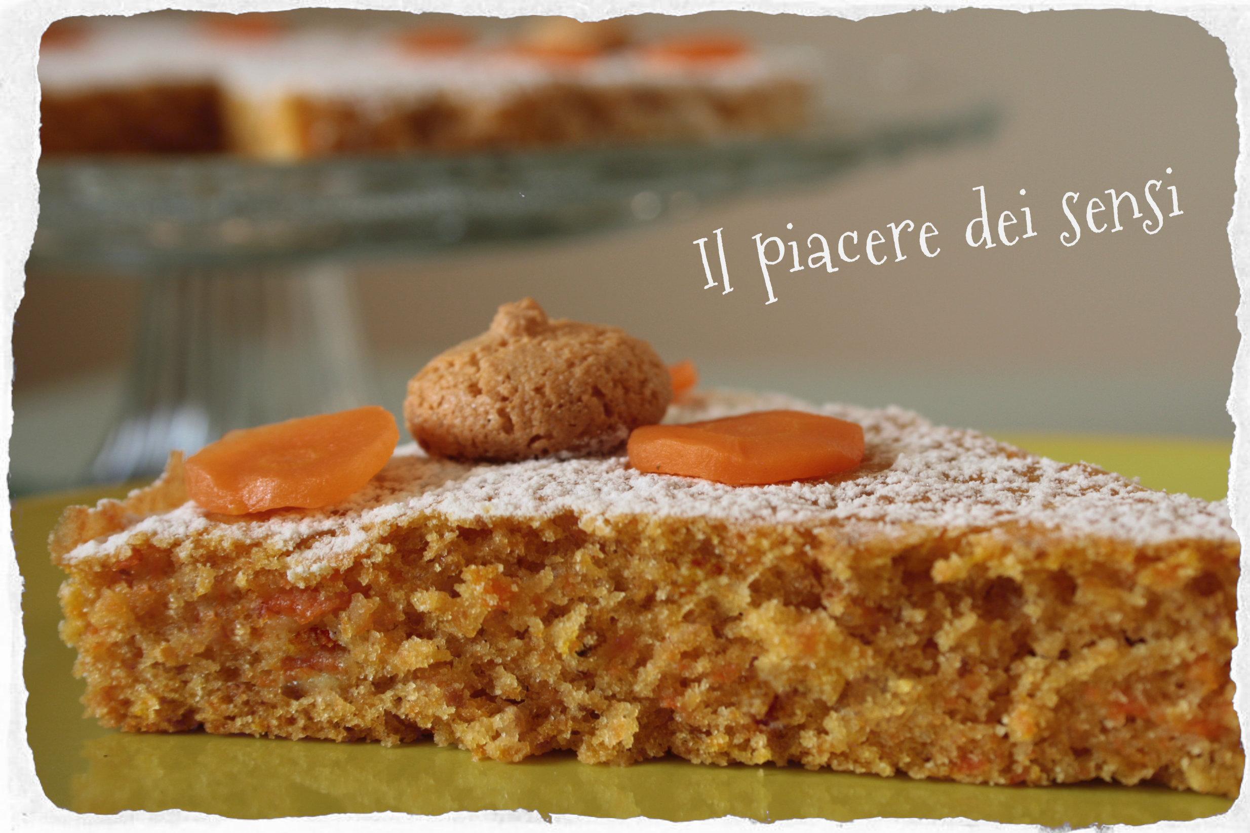 Torta con carote e amaretti - carrot cake with amaretti