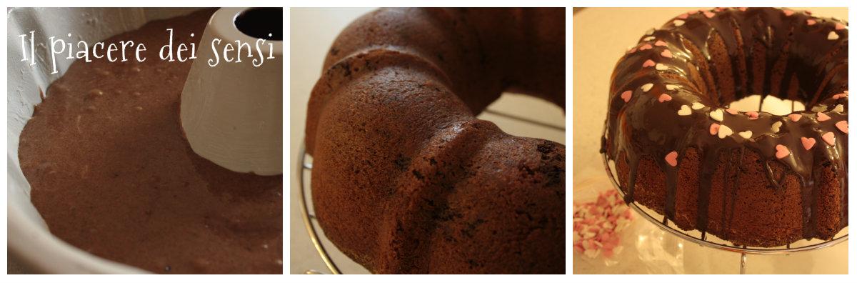 Ciambella al cioccolato con farina di mandorle (senza burro e lievito)