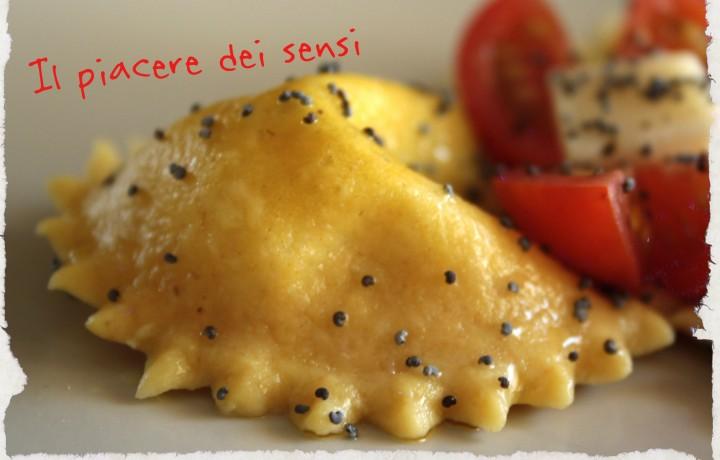 Girasoli con farina d'avena con erbette e semi di papavero