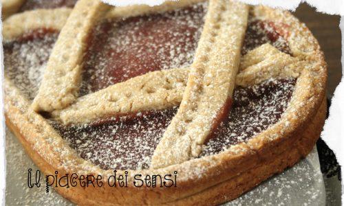 Crostata al farro integrale e confettura di fragole