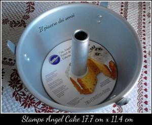 Chiffon cake agli agrumi con panna e marshmallow - Stampo angel cake wilton
