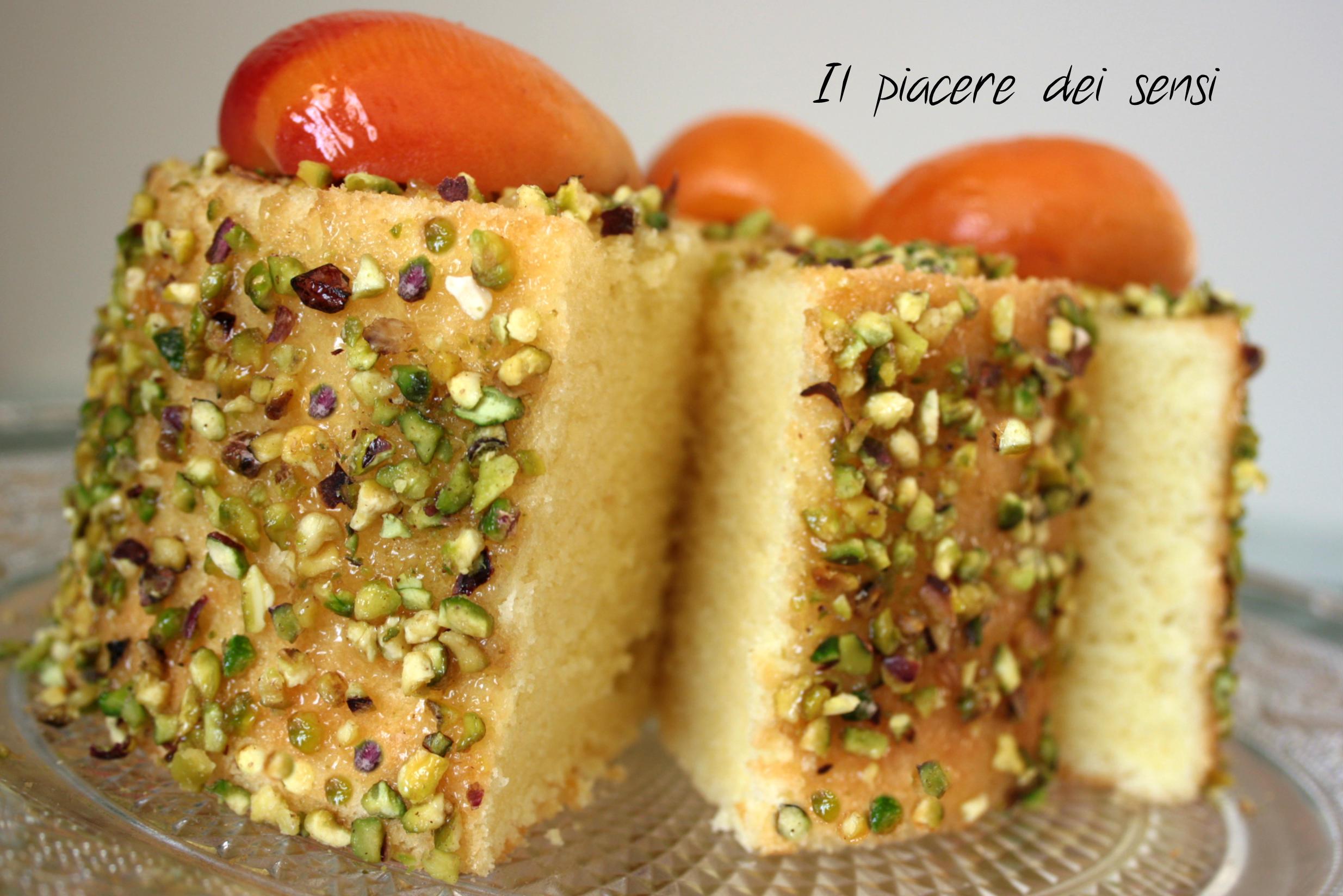 chiffon cake con albicocche