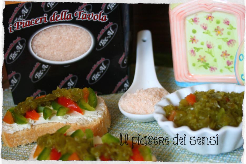 Crema ai peperoni per bruschette