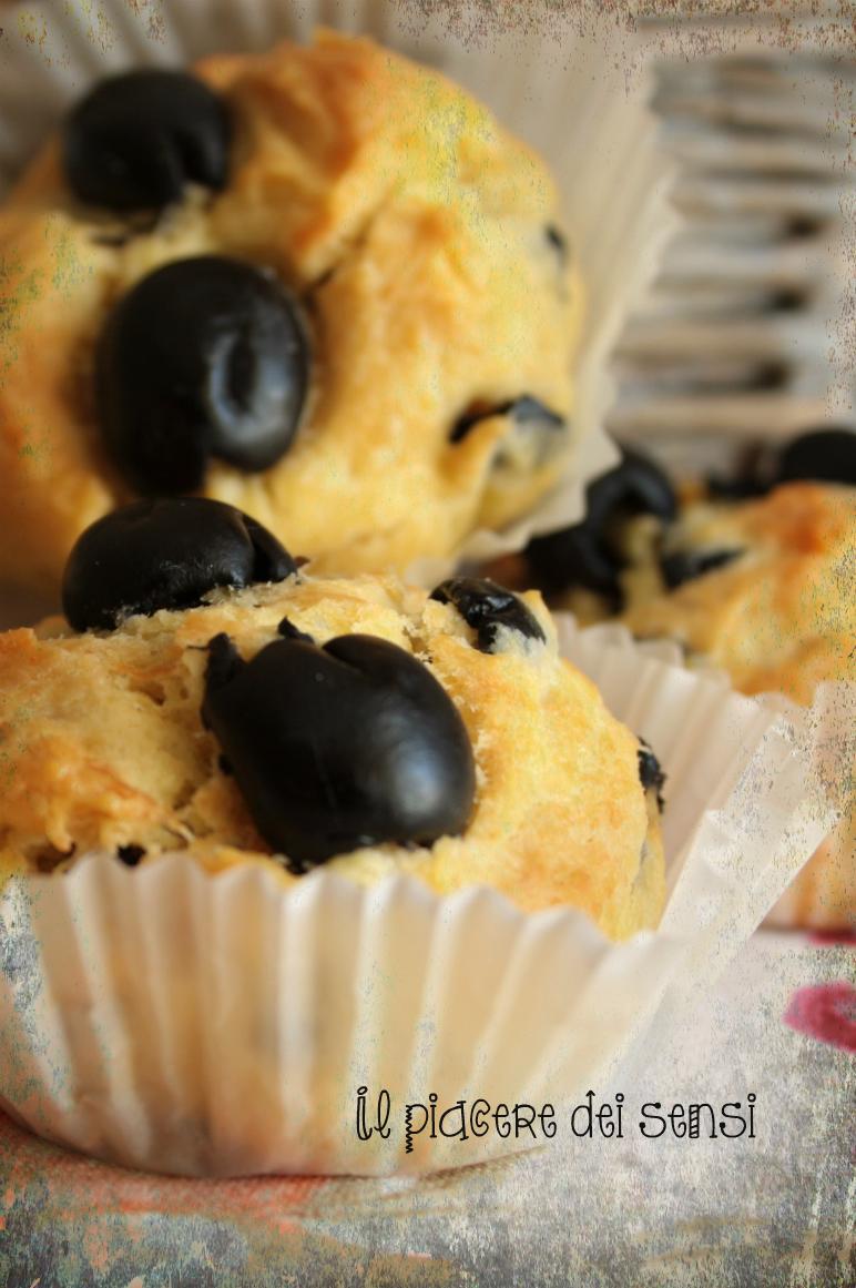 muffins con olive nere