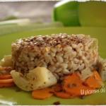 Farro risottato con carote e finocchi