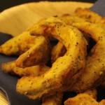 Finger food di zucca con semi di anice e di papavero (cottura al forno)