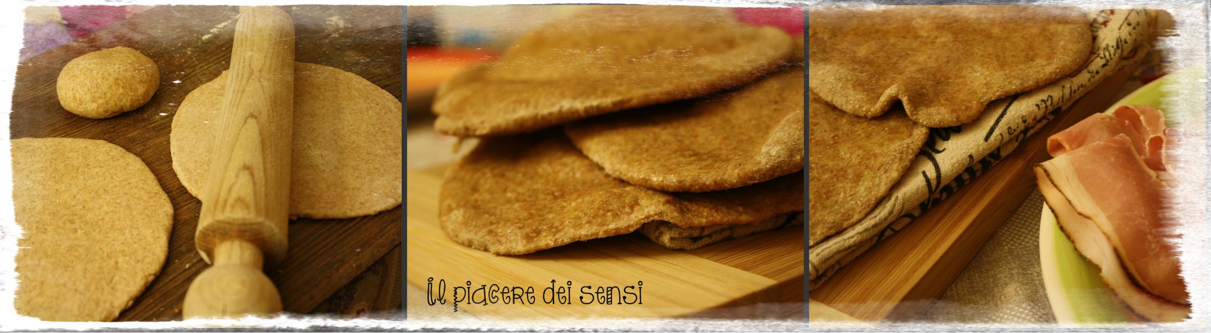 Collage Tandoori roti - pane indiano integrale senza lievito