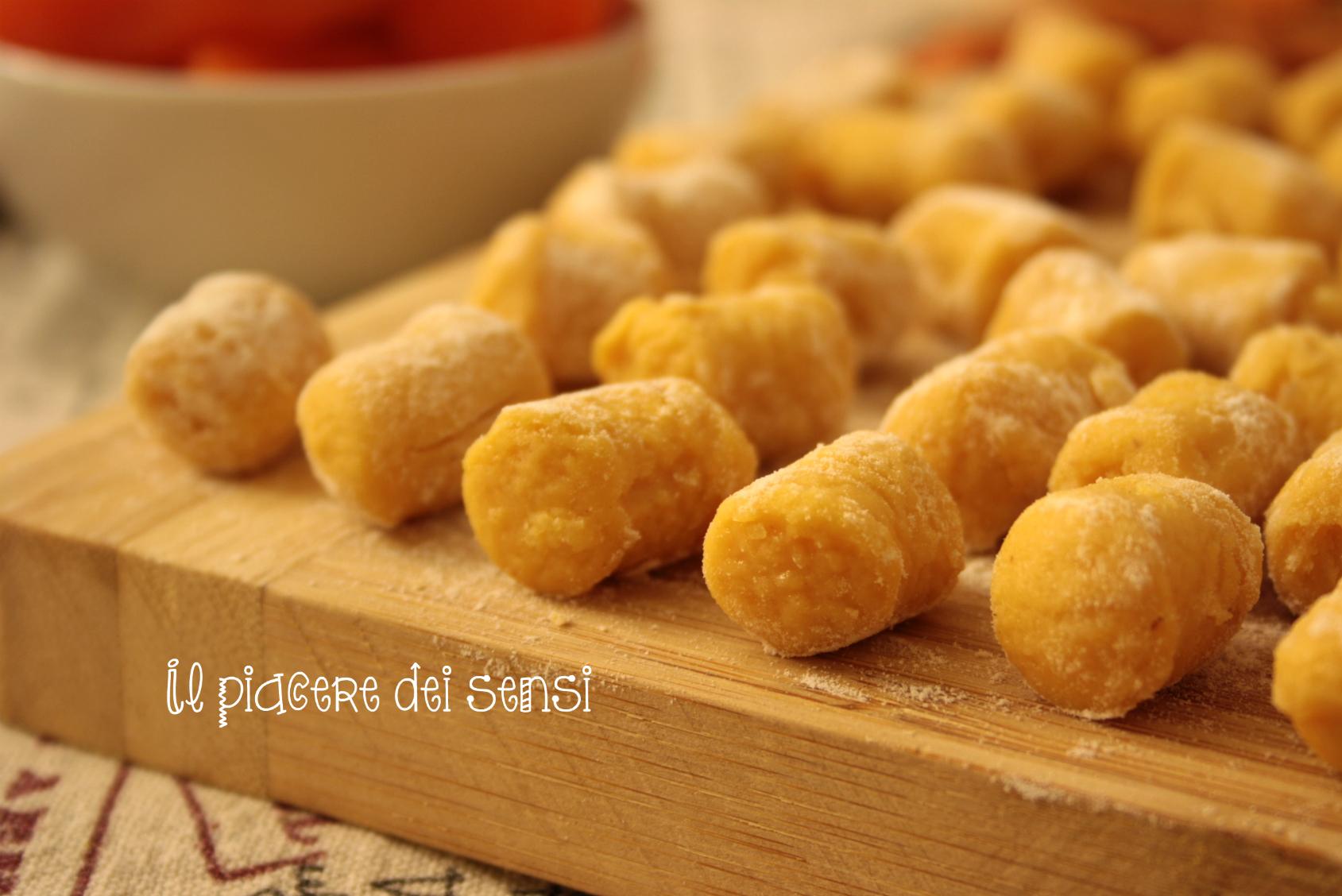 gnocchi di patate e carote
