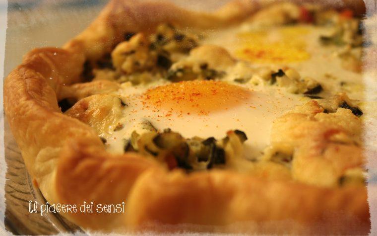 Torta salata pasquale con uova e zucchine
