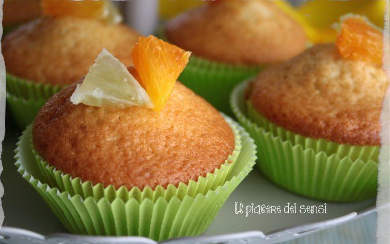 Muffins agli agrumi con farina di avena