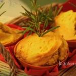 Muffins rustici al rosmarino con farina di mais