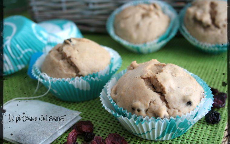 Muffins al tè con frutti rossi  e uvetta – Muffins Tea Brack