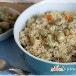 Quinoa piccante con fave