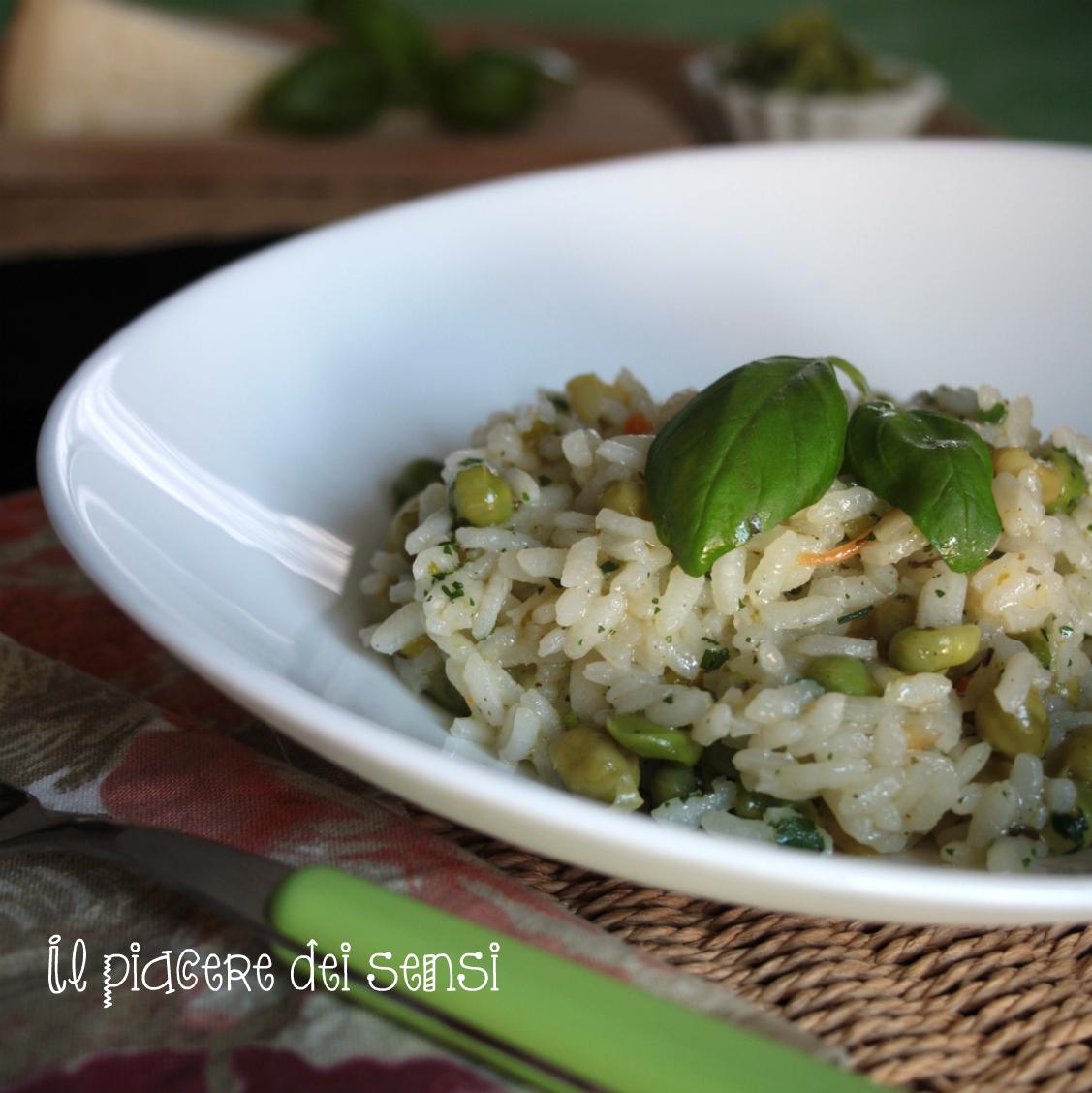 risotto con piselli