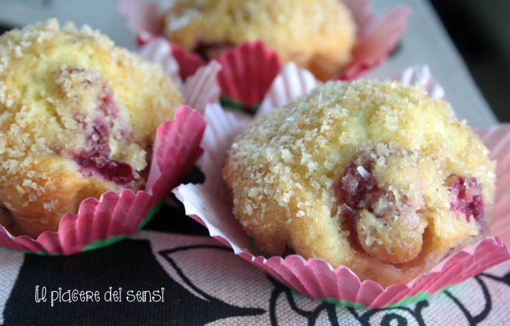 Muffins con ciliegie e mandorle
