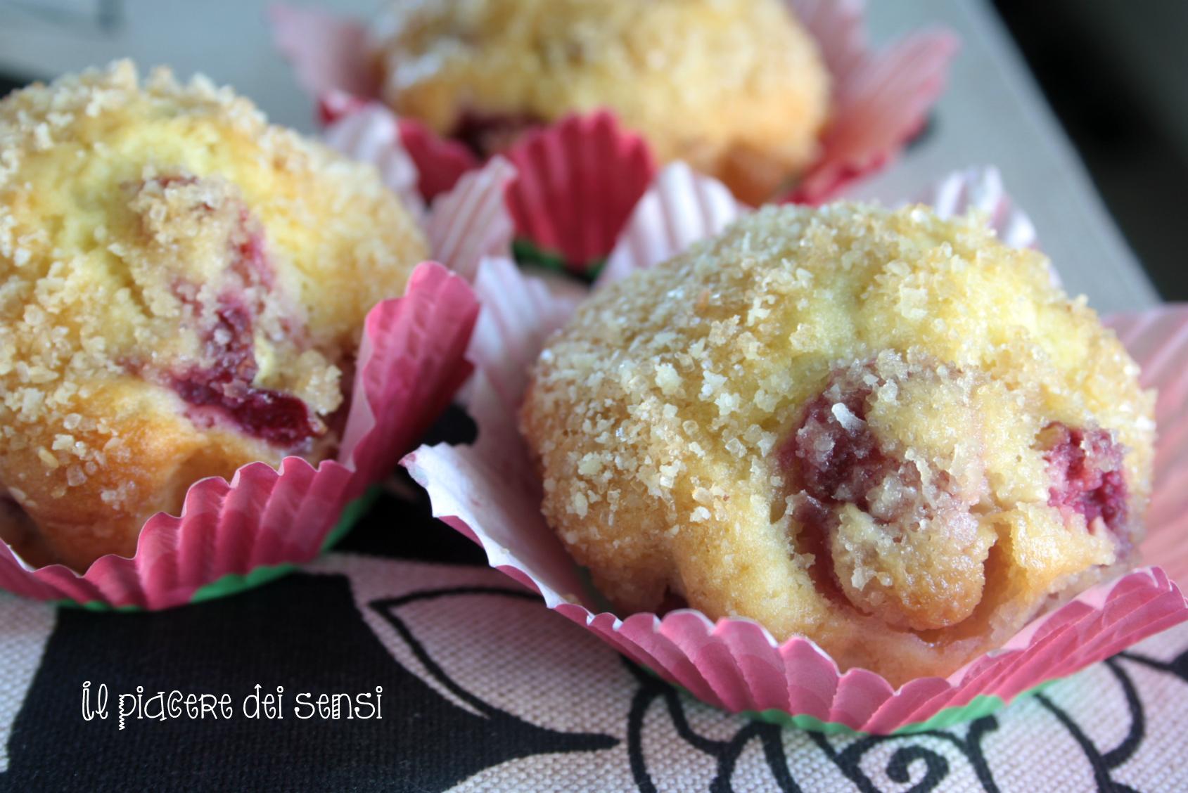 muffins con ciliegie