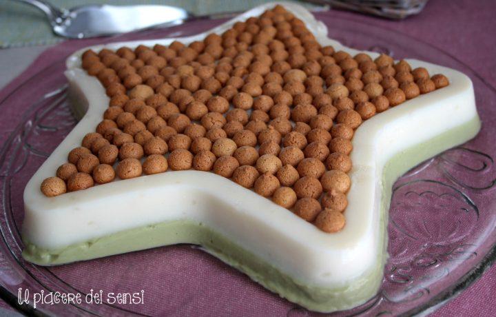 Panna cotta bicolore allo yogurt e pistacchio
