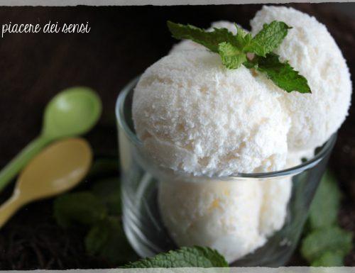 Gelato al cocco e menta – con e senza gelatiera