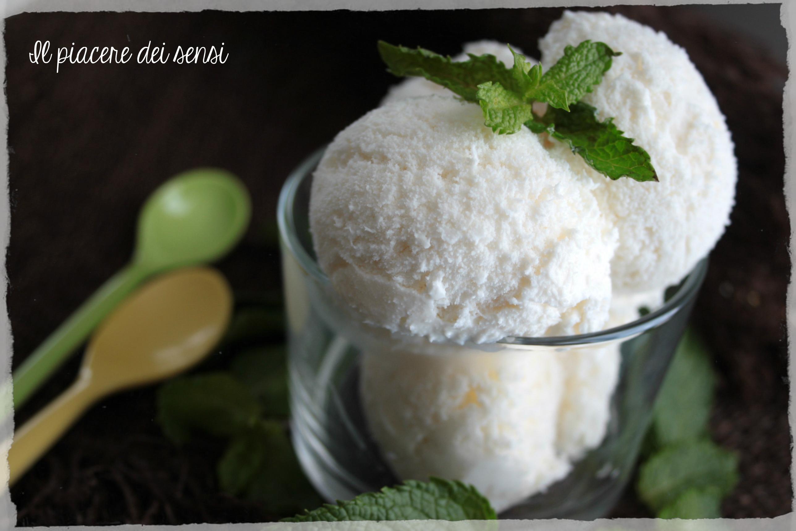 gelato al cocco e menta