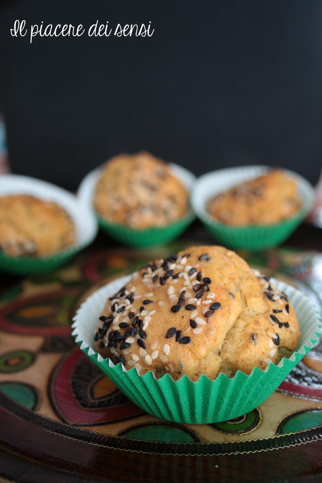 muffins con sesamo