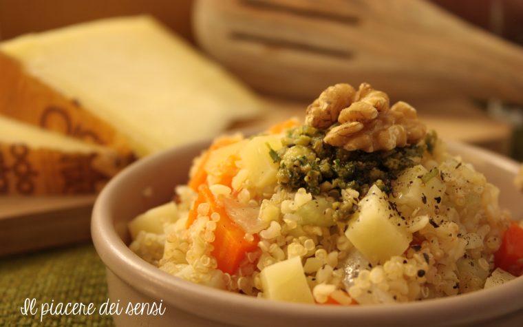 Quinoa e bulgur con verdure e Montasio