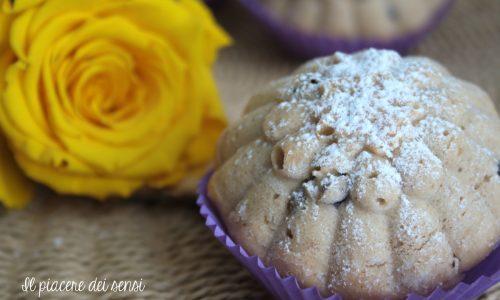 Muffins all'acqua con ribes rosso